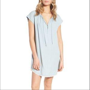 Splendid Shift Chambray Dress Light Wash Sz S